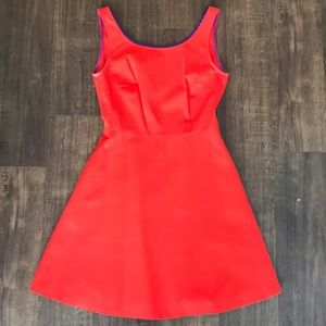 Bright orange Zara dress